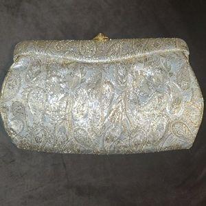 Vintage metalic gold clutch purse